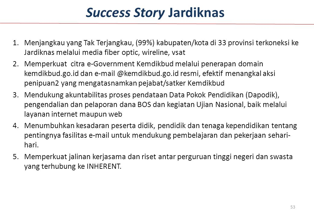 Success Story Jardiknas