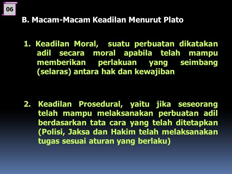B. Macam-Macam Keadilan Menurut Plato