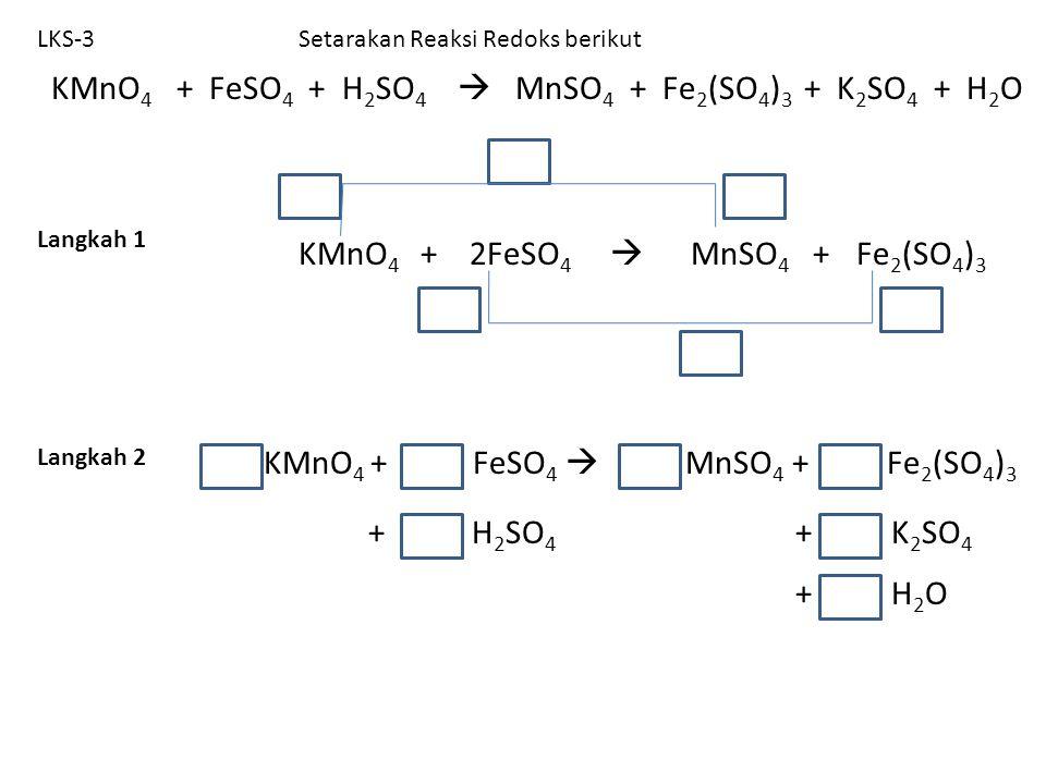 KMnO4 + FeSO4  MnSO4 + Fe2(SO4)3