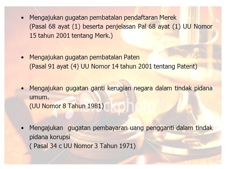 Mengajukan gugatan pembatalan pendaftaran Merek