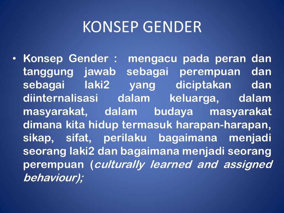 KONSEP GENDER