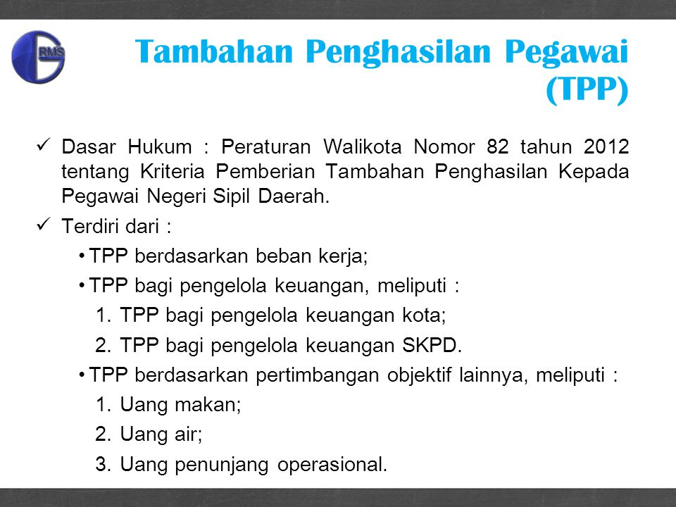 Tambahan Penghasilan Pegawai (TPP)