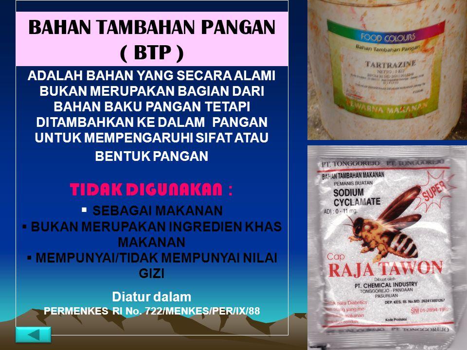 BAHAN TAMBAHAN PANGAN ( BTP )