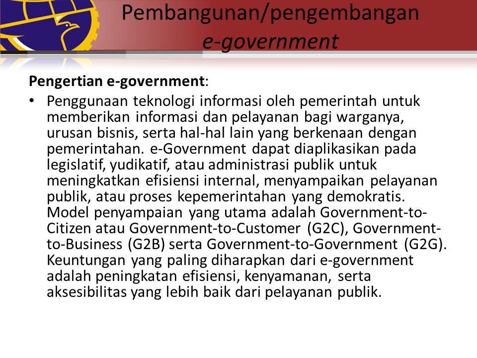 Pembangunan/pengembangan e-government