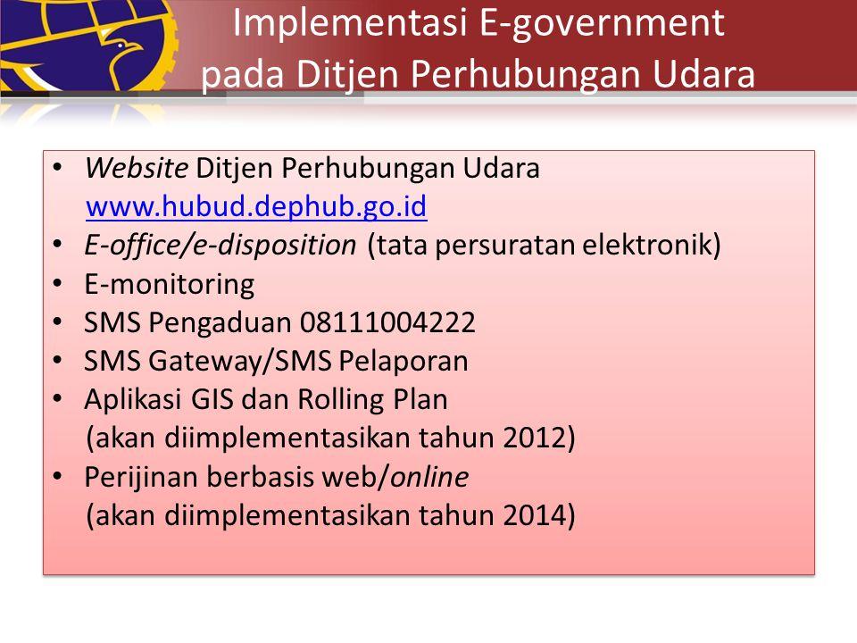 Implementasi E-government pada Ditjen Perhubungan Udara