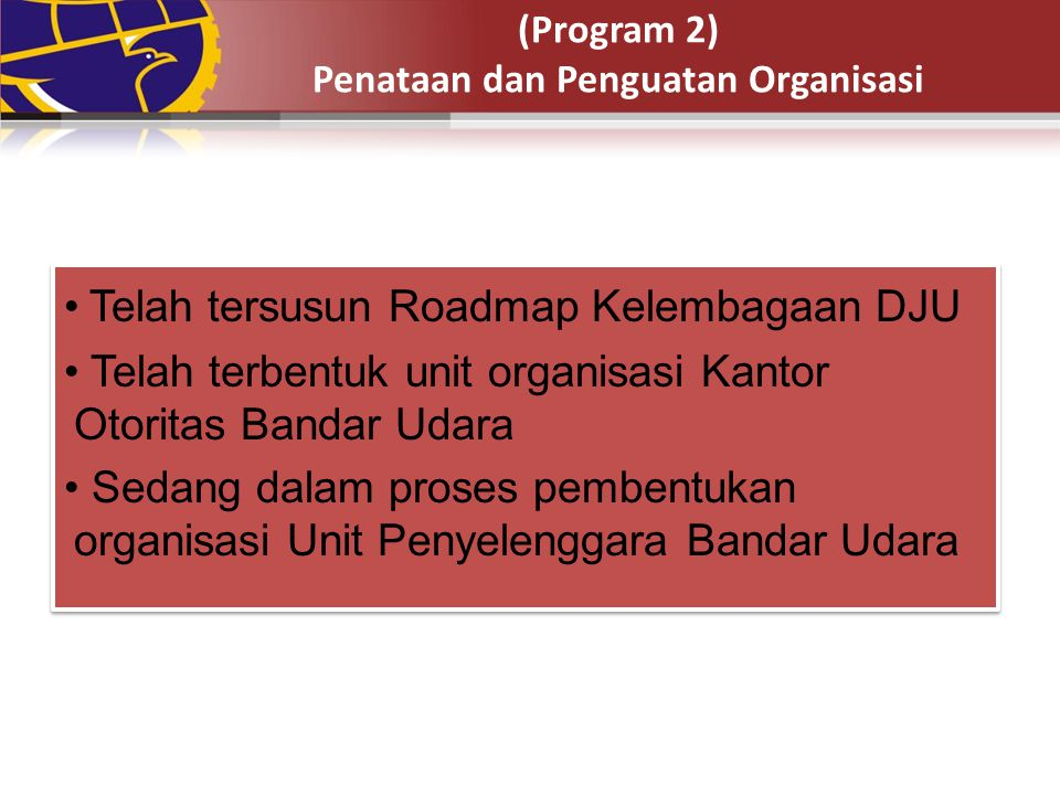 (Program 2) Penataan dan Penguatan Organisasi