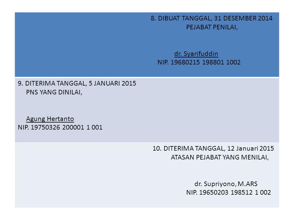 8. DIBUAT TANGGAL, 31 DESEMBER 2014