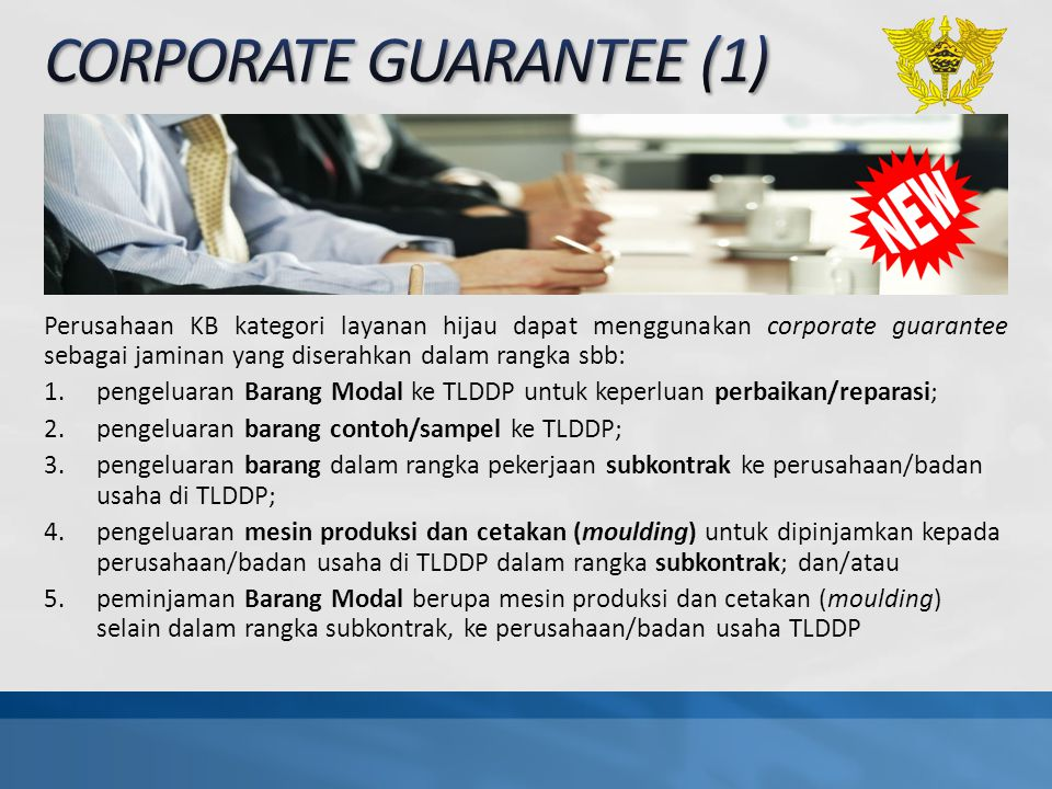 CORPORATE GUARANTEE (1)