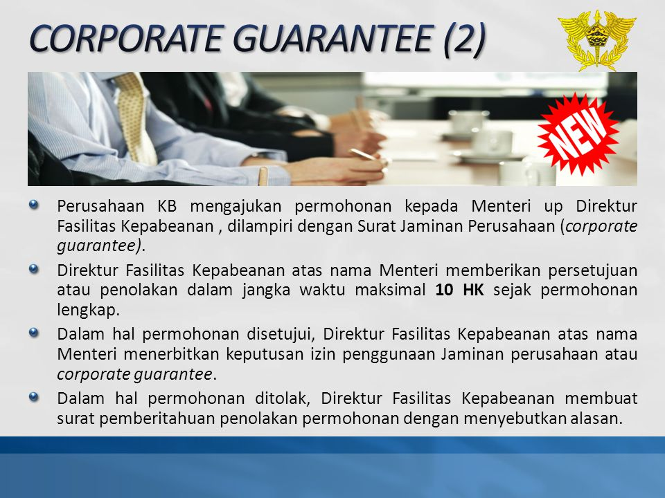 CORPORATE GUARANTEE (2)