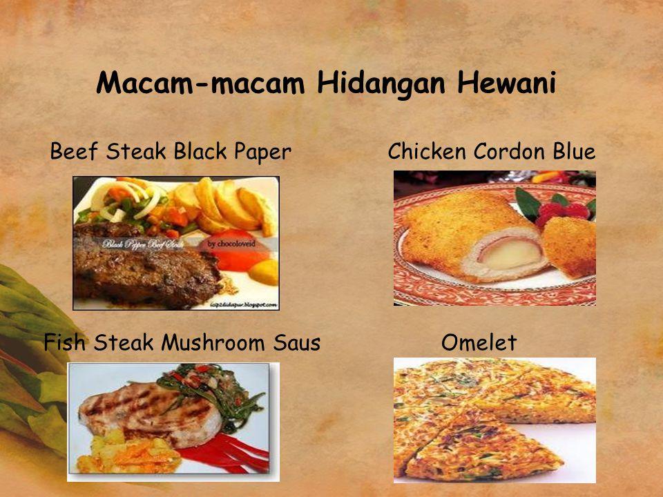 Macam-macam Hidangan Hewani
