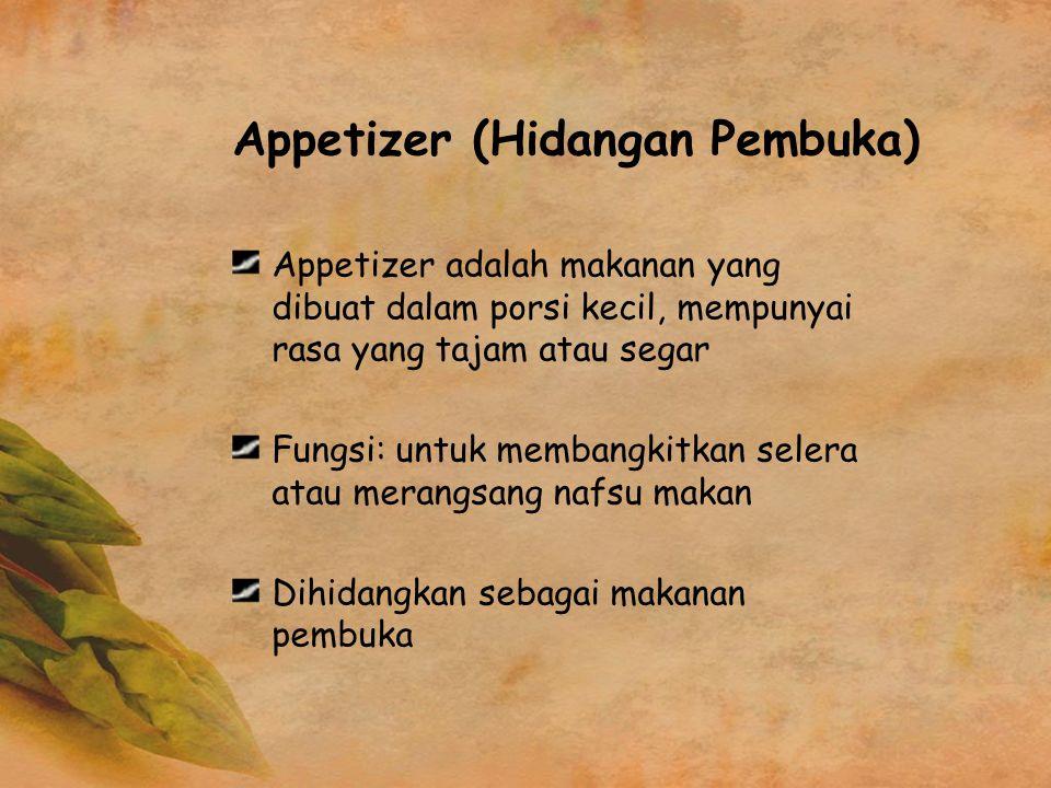 Appetizer (Hidangan Pembuka)