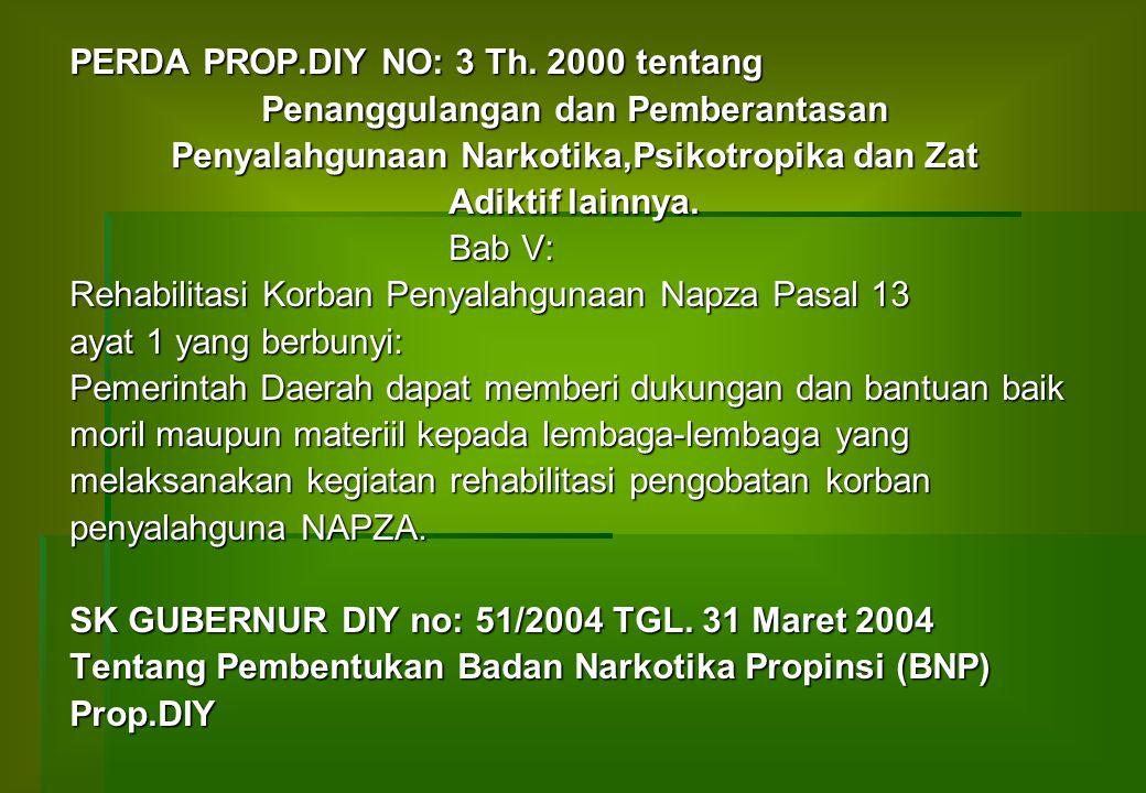 PERDA PROP.DIY NO: 3 Th. 2000 tentang Penanggulangan dan Pemberantasan