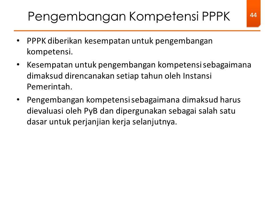 Pengembangan Kompetensi PPPK