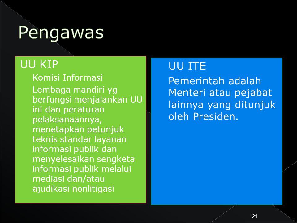 Pengawas UU KIP. Komisi Informasi.
