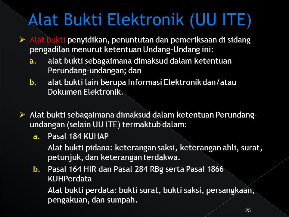 Alat Bukti Elektronik (UU ITE)