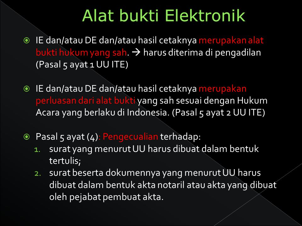 Alat bukti Elektronik
