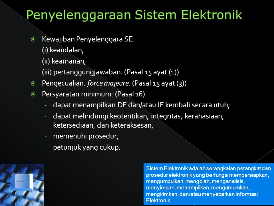Penyelenggaraan Sistem Elektronik