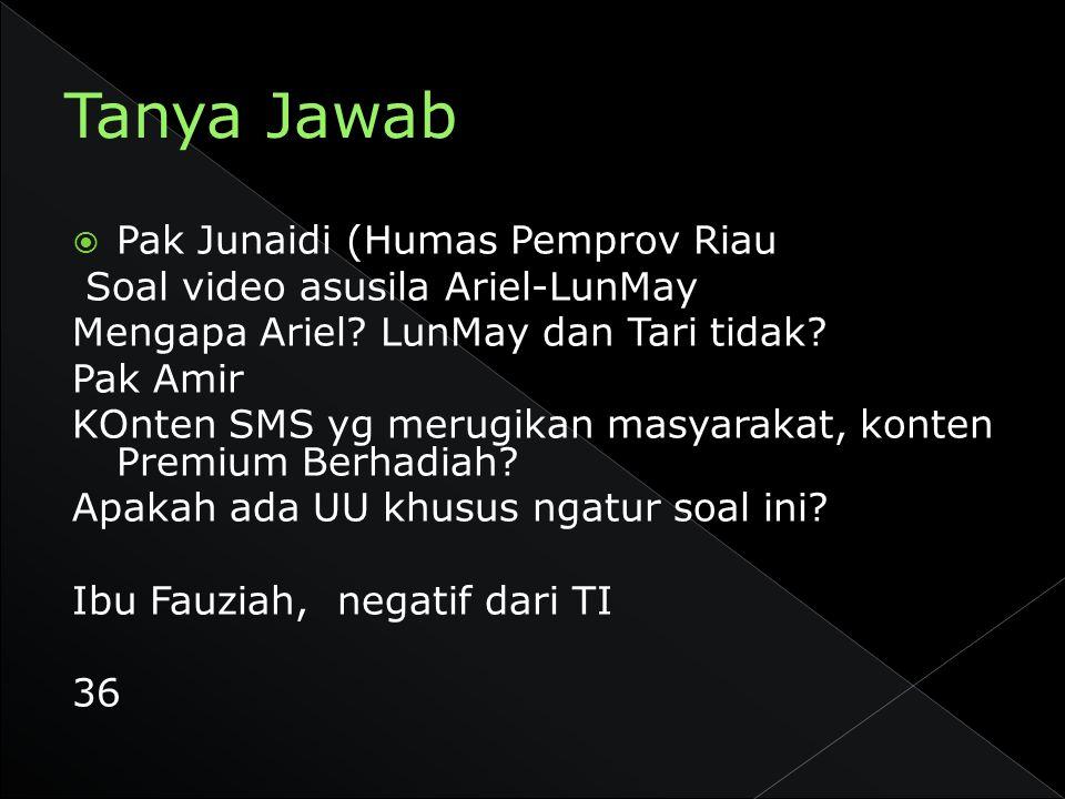 Tanya Jawab Pak Junaidi (Humas Pemprov Riau