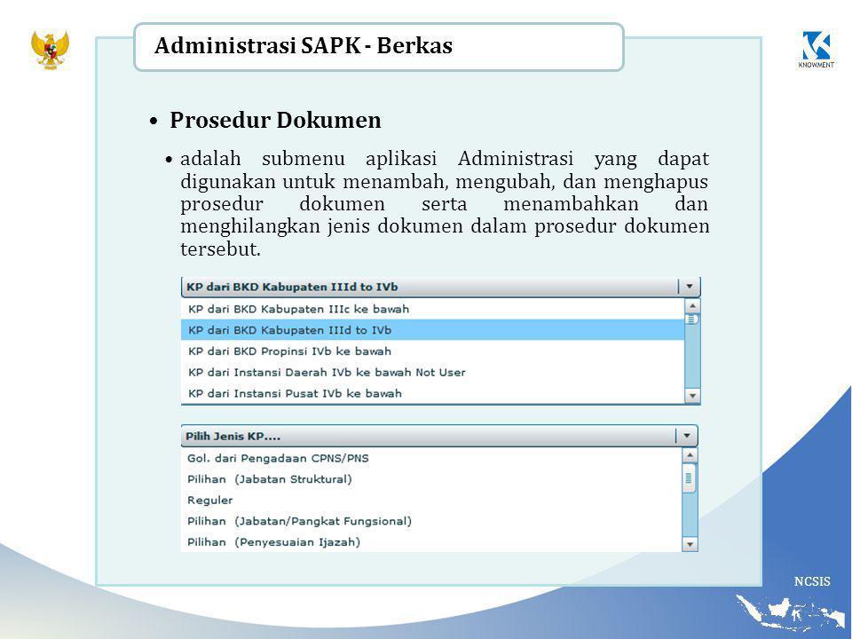 Administrasi SAPK - Berkas Prosedur Dokumen