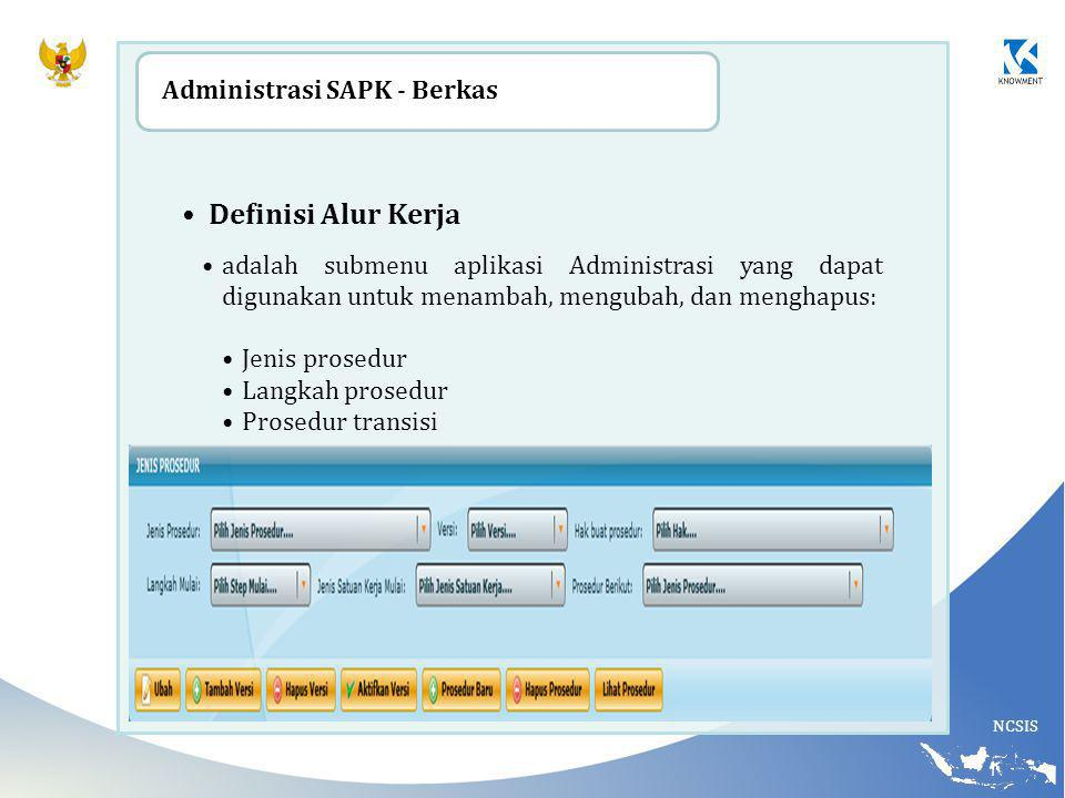 Definisi Alur Kerja Adminis trasi SAPK - Berkas