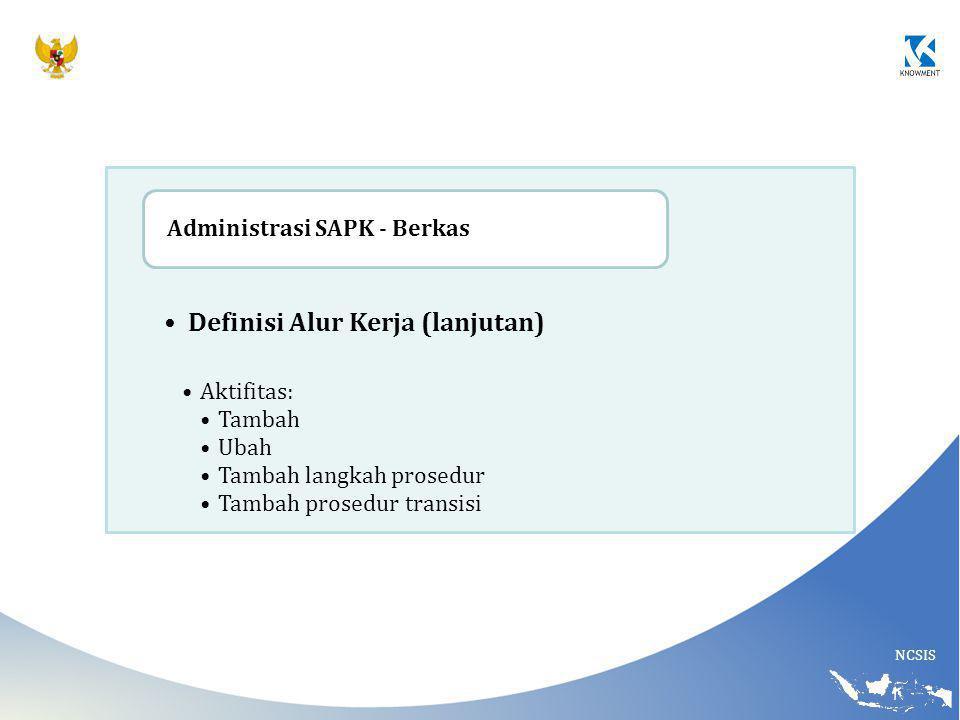 Definisi Alur Kerja (lanjutan)