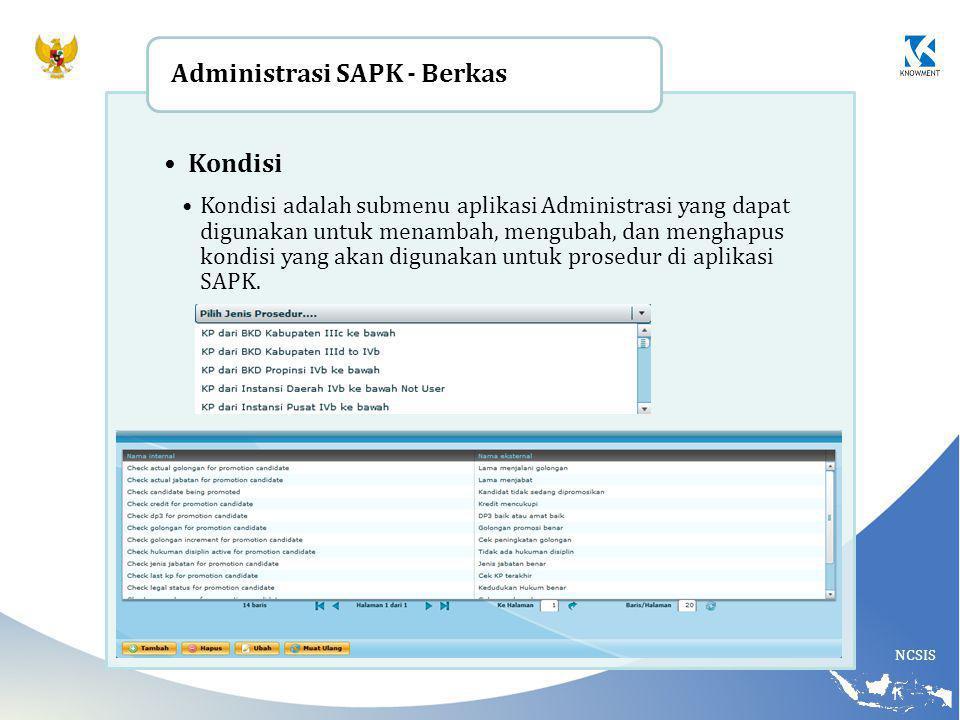 Administrasi SAPK - Berkas Kondisi
