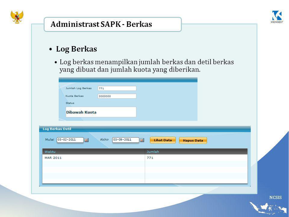 Administrast SAPK - Berkas Log Berkas