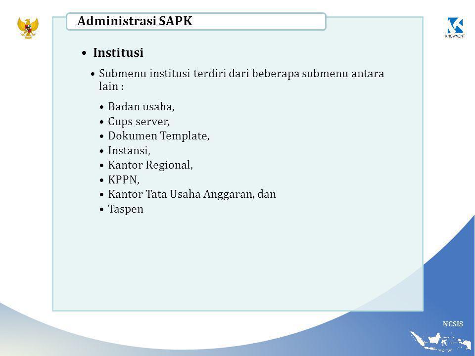 Administrasi SAPK Institusi