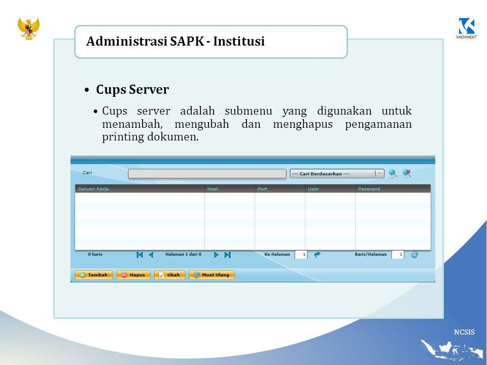 Administrasi SAPK - Institusi Cups Server