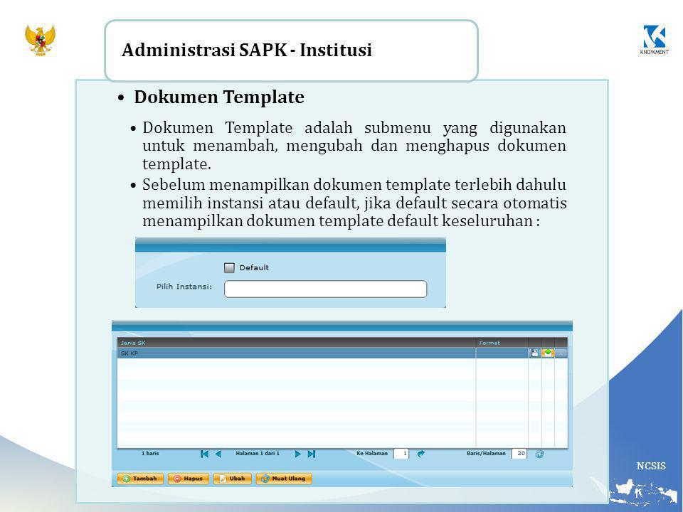 Administrasi SAPK - Institusi Dokumen Template