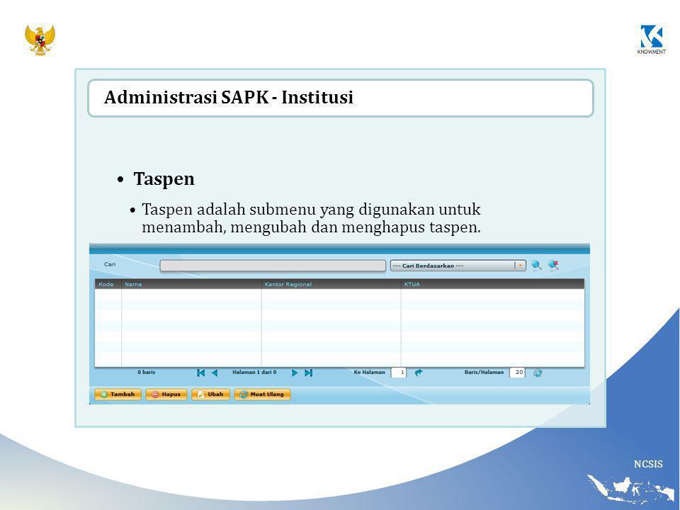 Administrasi SAPK - Institusi Taspen