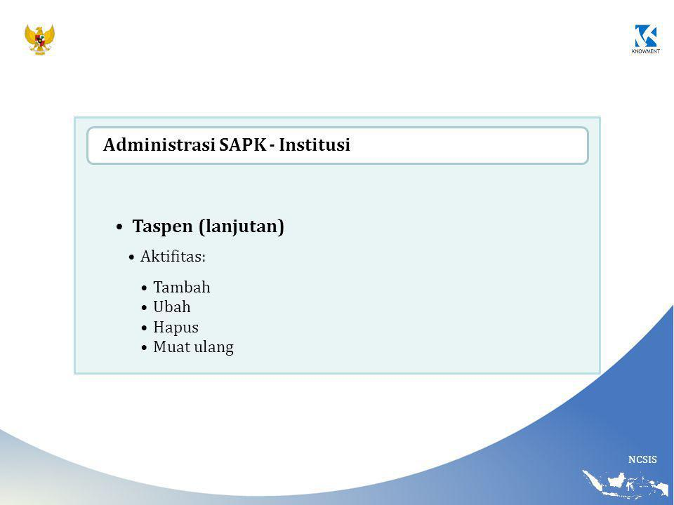 Administrasi SAPK - Institusi