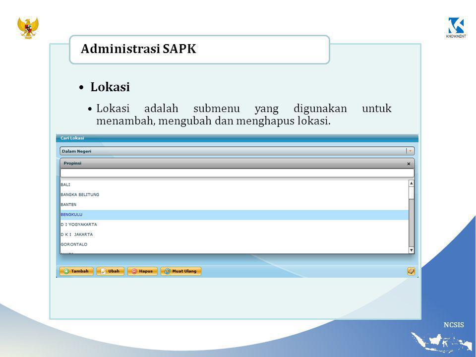 Lokasi Administrasi SAPK