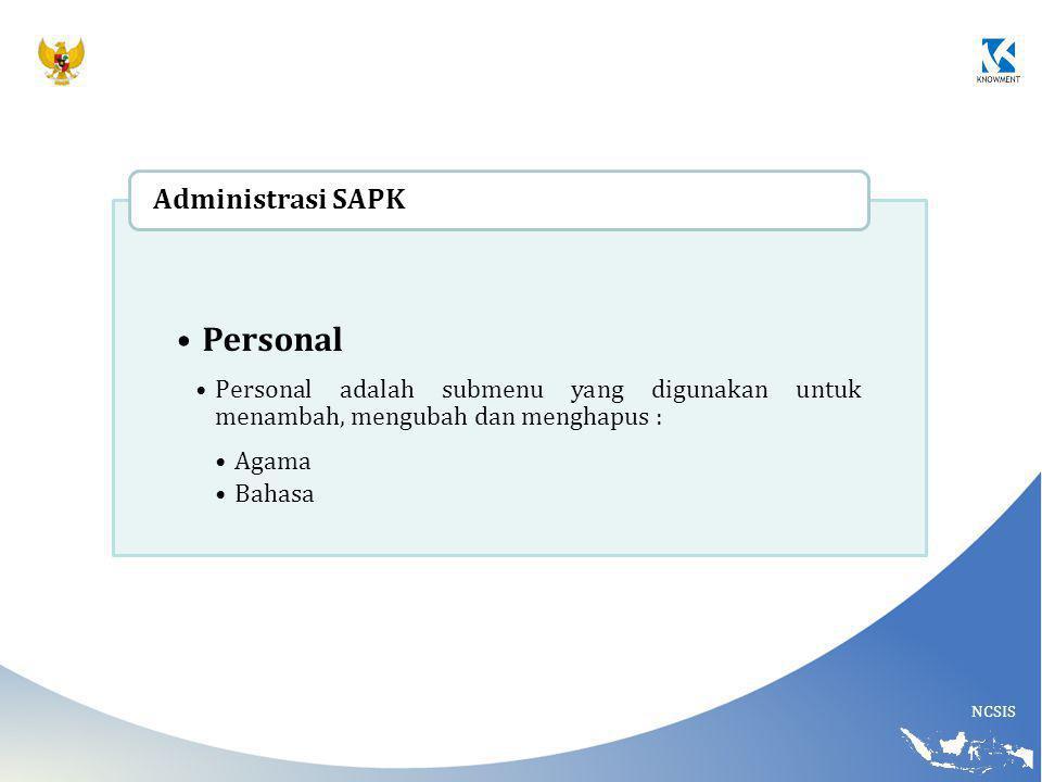 Personal Administrasi SAPK