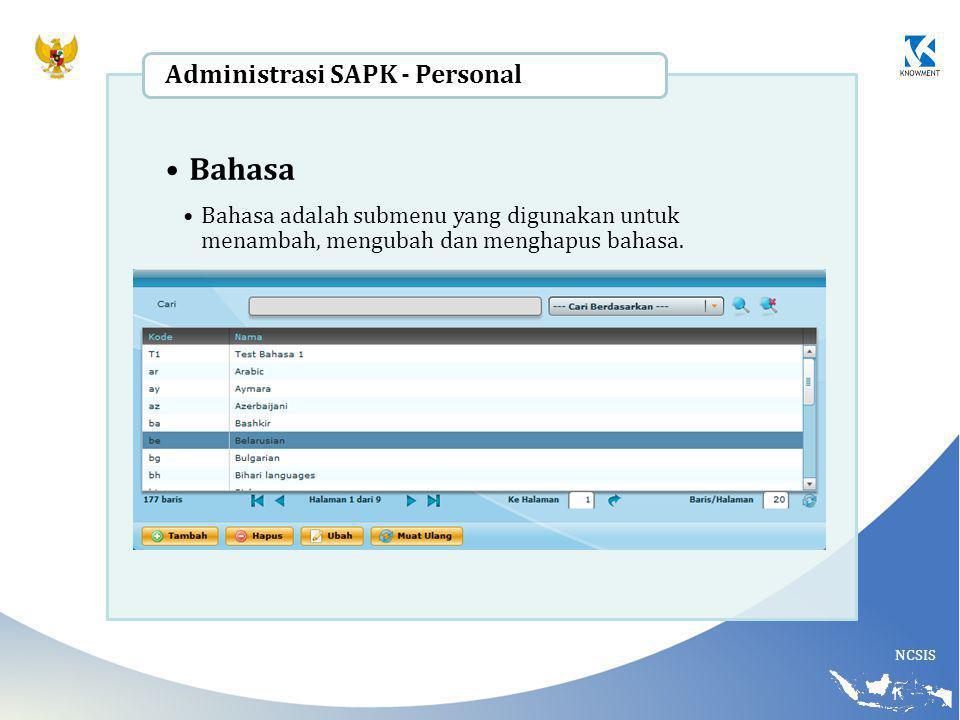 Bahasa Administrasi SAPK - Personal