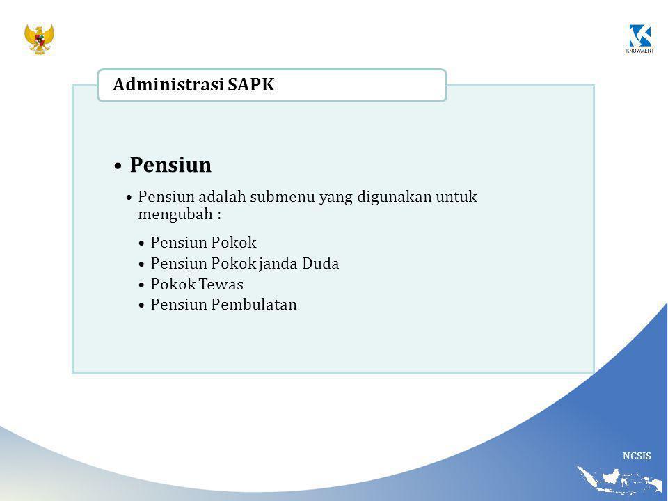 Pensiun Administrasi SAPK
