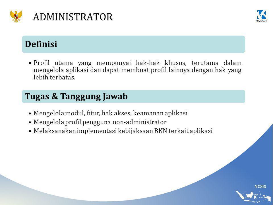 Administrator Definisi Tugas & Tanggung Jawab