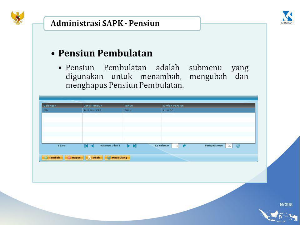 Pensiun Pembulatan Administrasi SAPK - Pensiun