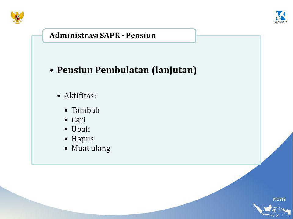 Pensiun Pembulatan (lanjutan)