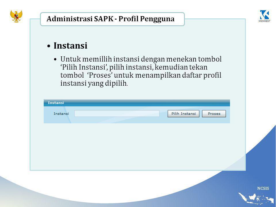 Instansi Administrasi SAPK - Profil Pengguna