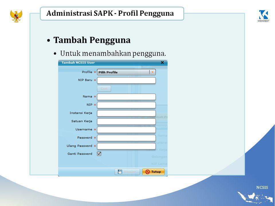 Tambah Pengguna Administrasi SAPK - Profil Pengguna