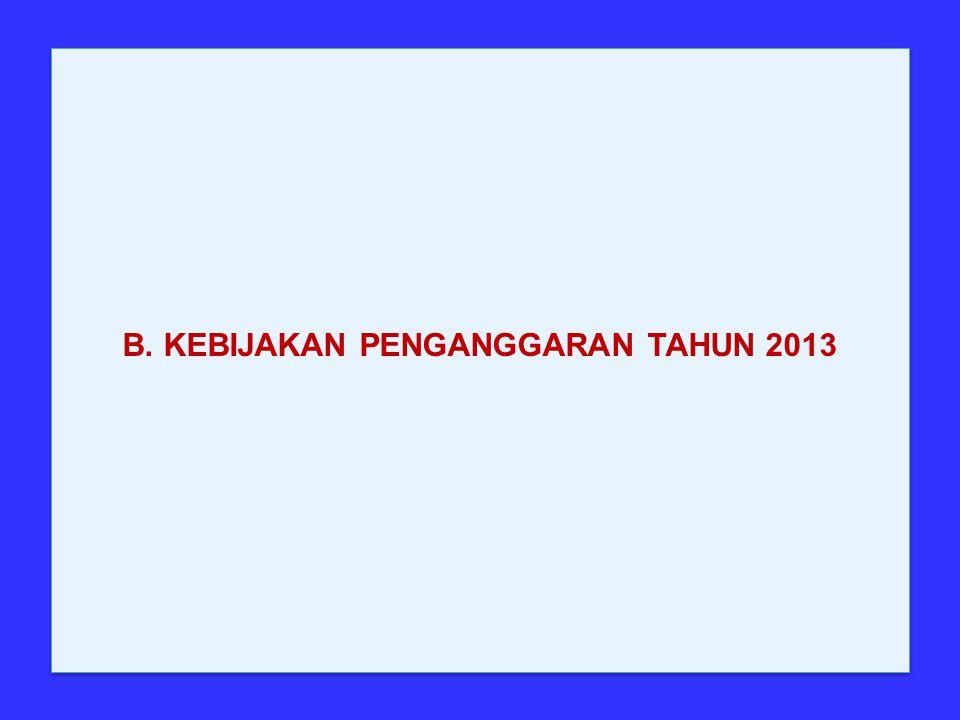 B. KEBIJAKAN PENGANGGARAN TAHUN 2013