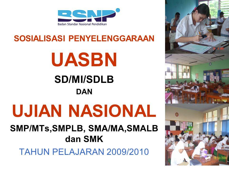 SOSIALISASI PENYELENGGARAAN SMP/MTs,SMPLB, SMA/MA,SMALB dan SMK