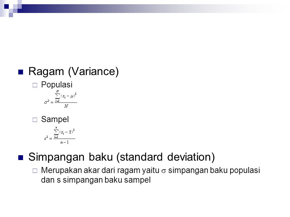Simpangan baku (standard deviation)