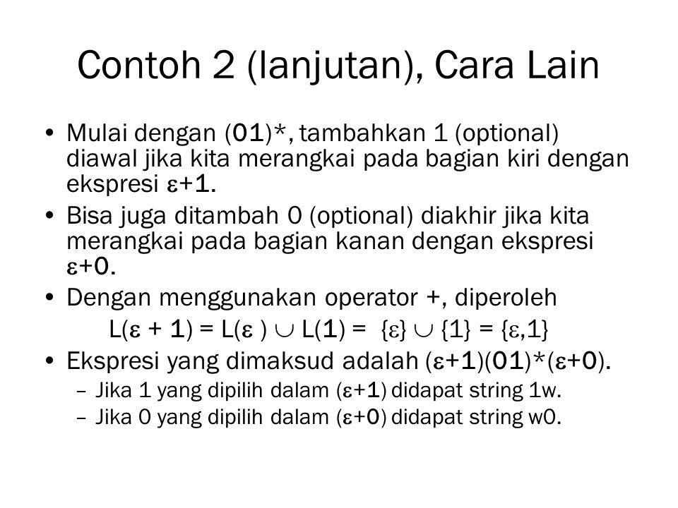Contoh 2 (lanjutan), Cara Lain
