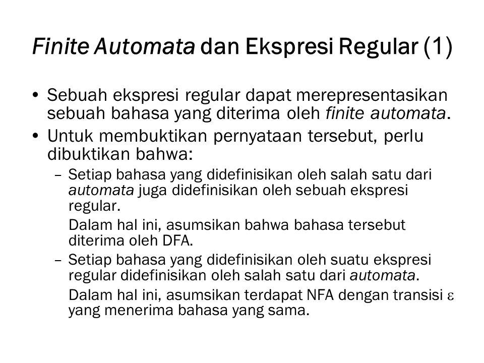 Finite Automata dan Ekspresi Regular (1)