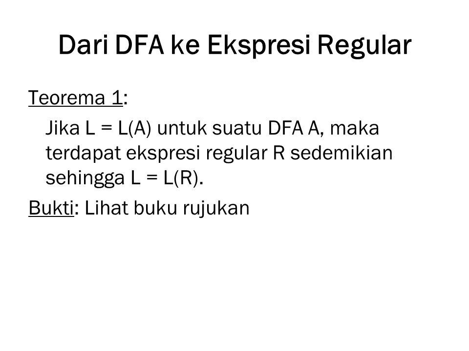 Dari DFA ke Ekspresi Regular