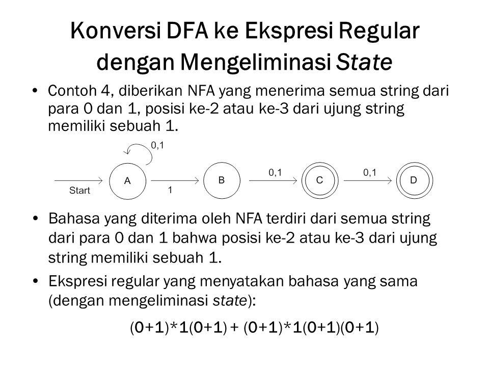 Konversi DFA ke Ekspresi Regular dengan Mengeliminasi State
