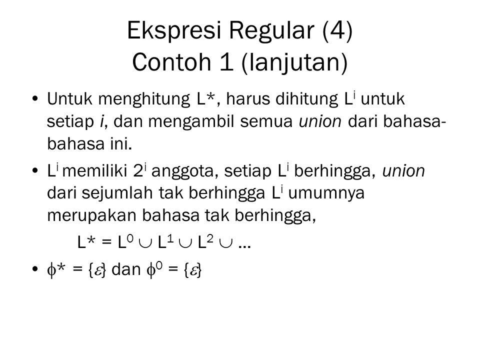 Ekspresi Regular (4) Contoh 1 (lanjutan)