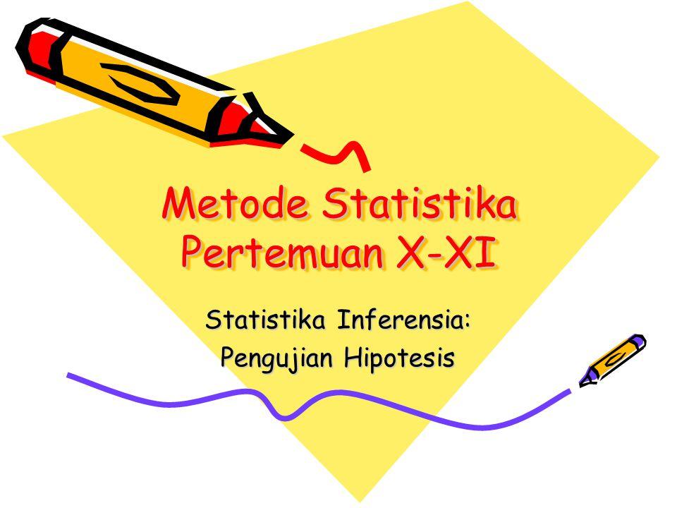 Metode Statistika Pertemuan X-XI